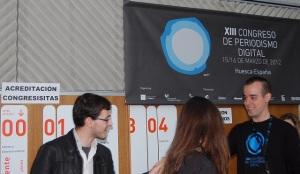 Mesas de registro del XIII Congreso Periodismo Digital de Huesca 2012