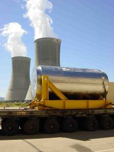 Un contenedor de combustible nuclear (casks). Credit: ENSA