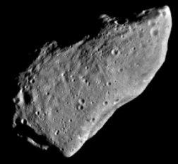 El asteroide Gaspra. Credit: JPL/NASA