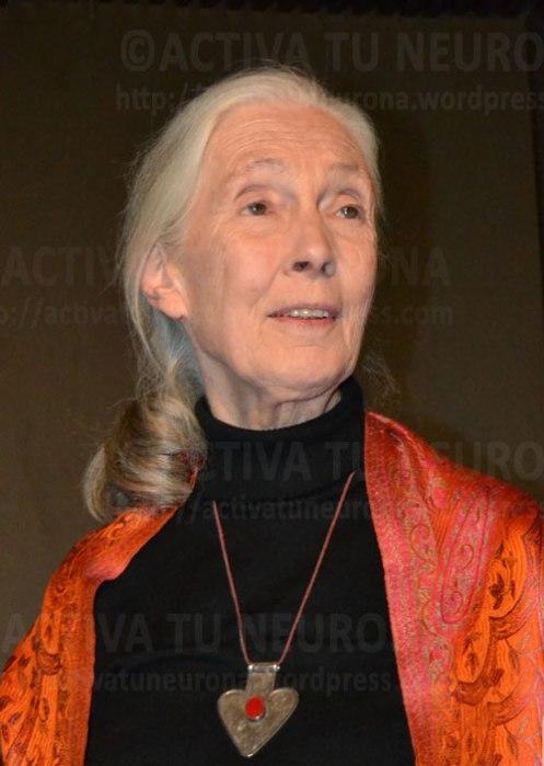 Jane Goodall en un instante de la visita. Credit: Activatuneurona