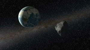 Recreación del acercamiento de 2012 DA14. Credit: ESA