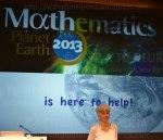 Christiane Rousseau al comienzo de la conferencia en Bilbao. Credit: Activatuneurona