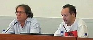 Los oradores durante el turno de preguntas