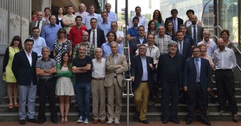 Algunos de los participantes en los encuentros Astrofísica-Empresa. Credit: ACTIVATUNEURONA Por parte de las Universidades:   X. Barcons, M. J. Fernández Figueroa (UCM), B. Díaz, Á. Díaz (UAM), A. Sánchez-Lavega (UPV-EHU), J. I. González Serrano (Universidad de Cantabria-IFCA), F. Figueras (ICC-UB), B. Ruiz Cobo (IAC/ Departamento Astrofísica ULL), C. Cid (Universidad de Alcalá).   Representantes de las empresas:  J. Juez (Cluster Hegan), V. Ruiz Díaz-Araque (ESAC, ISDEFE), M. Sánchez Portal (ESAC ISDEFE), J. M. Casalta (NTE-SENER), Miguel Ángel Molina (GMV), E. Ojero (SERCO), S. Gilliland, J. Luzarraga (CRYOVAC), G. Murga (IDOM), L. Sabau y T. Belenguer (INTA), M. A. Carrera (AVS), A. Gálvez (ESA), J. Marcos (Tecnalia).