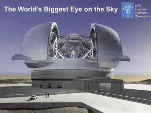 Futuro telescopio E-ELT del Observatorio Europeo Austral. Credit: ESO.org