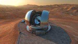 Recreación del futuro European Extremely Large Telescope (E-ELT). Credit: ESO