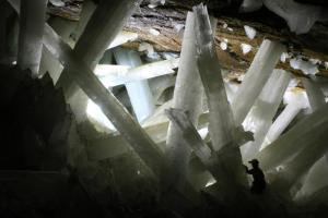 Cristales de la cueva de Naica.