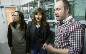 Investigadores del grupo de Biología Celular en Toxicología Ambiental de la UPV/EHU