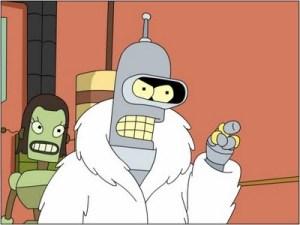 Bender, el robot de la serie Futurama