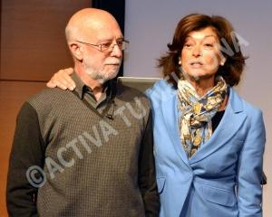 Martín Rivas y Esther Domínguez al término de la clase. Foto: © Javier San Martín.