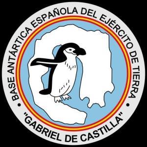 "El emblema de la base antártica española ""Gabriel de Castilla""."