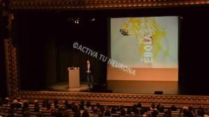 Guillermo Quindós en un momento de la conferencia. Foto: © Izaskun Lekuona