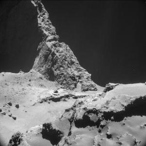 La superficie del 67/P. Foto: ESA