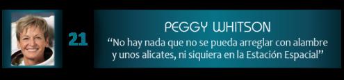 """Peggy Whitson: """"No hay nada que no se pueda arreglar con alambre y unos alicates, ni siquiera en la Estación Espacial"""""""