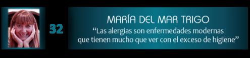 """María del Mar Trigo: """"Las alergias son enfermedades modernas que tienen mucho que ver con el exceso de higiene"""""""