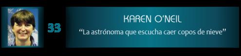Karen O'Neil, la astrónoma que escucha caer copos de nieve