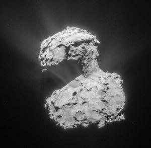 El cometa 67P. Credit: ESA/Rosetta/NAVCAM– CC BY-SA IGO 3.0