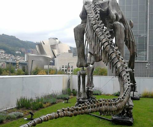 Dinosaurio en Bilbao