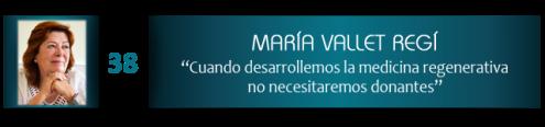 """María Vallet-Regí """"Cuando desarrollemos la medicina regenerativa no necesitaremos donantes"""""""