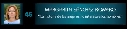"""Margarita Sánchez Romero: """"La historia de las mujeres no interesa a los hombres"""""""